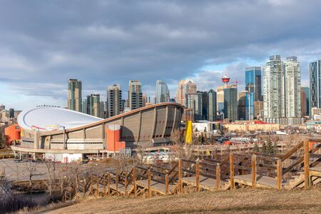 Sweeping view of Calgary's skyline from a beautiful viewpoint.