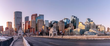 View of Calgary's skyline along the centre street bridge.