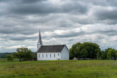 Batoche, Saskatchewan - August 6, 2019: Grounds of the Batoche National Historic Site of Canada. Batoche was the scene of the last battle of the Riel Rebellion.