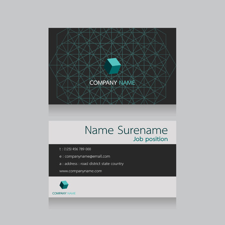 network card: technology name card, network connection Illustration