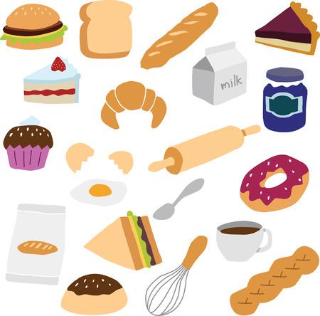 blueberry pie: bakery objects Illustration