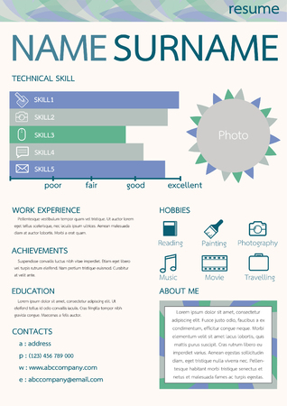 resume: abstract resume Illustration