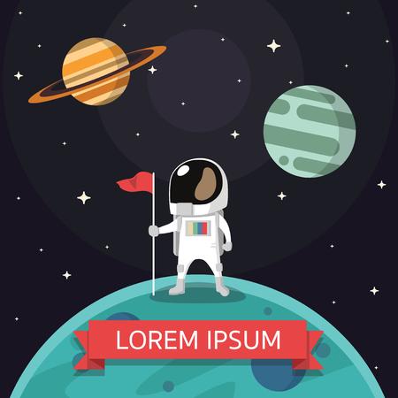 Vector de viaje de astronauta