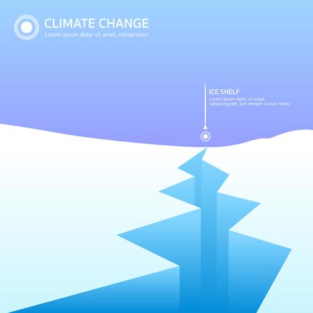 Ice shelf global warming vector Ilustração