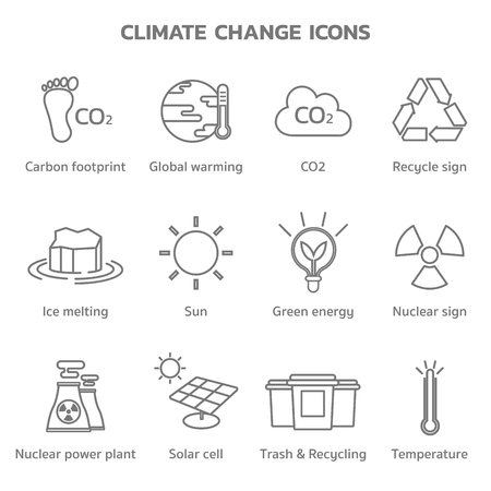 climate change global warming icons