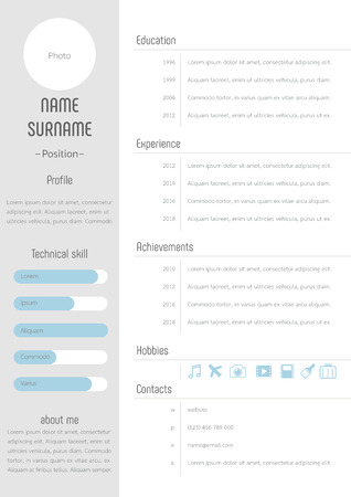 Resume cv template profile design vector Vector Illustratie