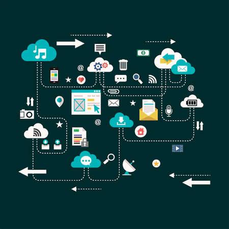 globális kommunikációs: Globális kommunikációs Illusztráció