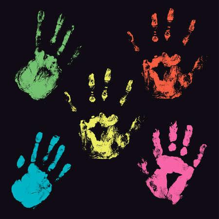 finger prints: huellas dactilares Vectores