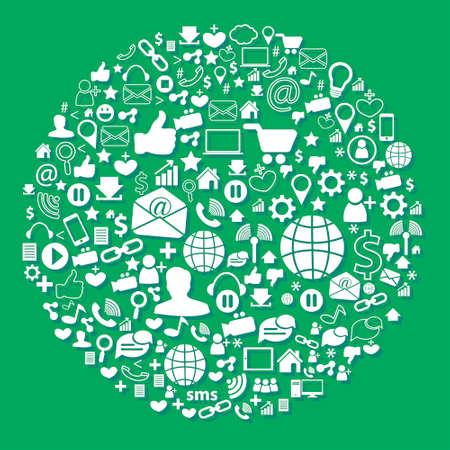 social media: social media Illustration