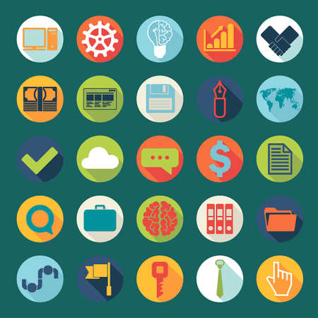 Flat icons vector collection Vector
