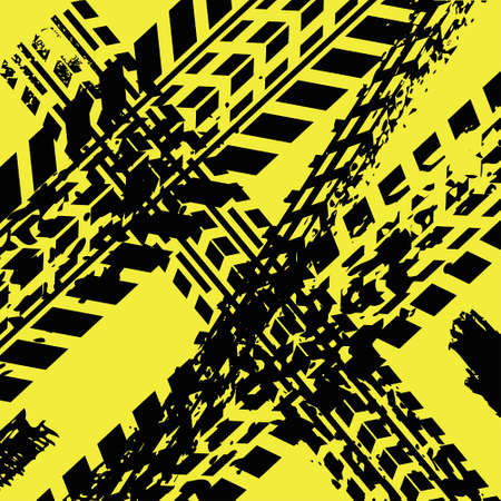 tire imprint: Yellow tire track background