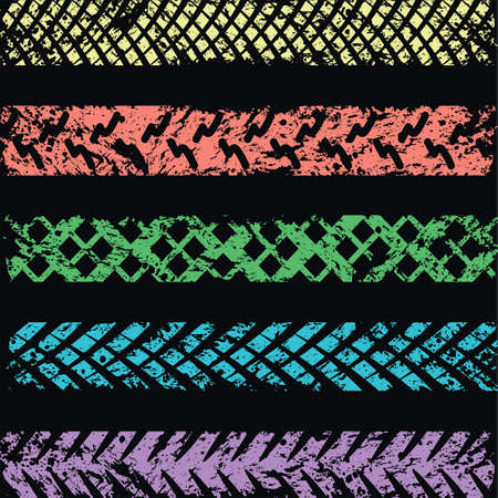 skidding: Colored tire track background