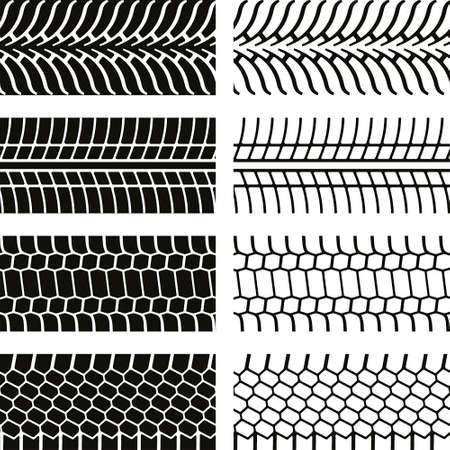 skidding: Vector illustration tires print print background