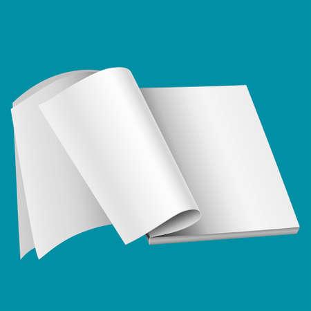 mag: Magazine vierge mod�le de page pour la conception mise en page. Vector illustration sur fond bleu