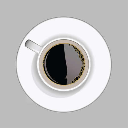 cofee cup: a cup of cofee on saucer isolated