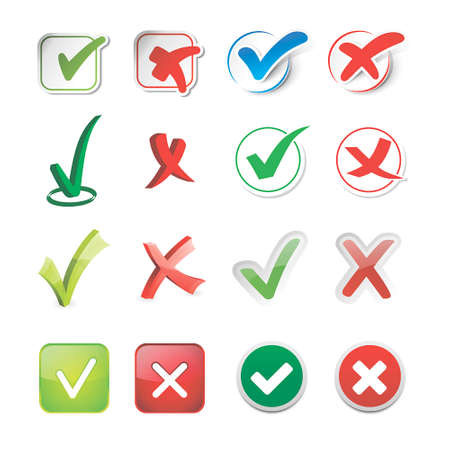 green check mark: Vector check mark icons Illustration