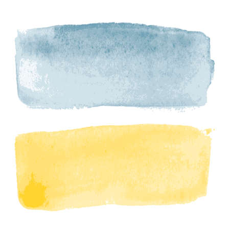 creative arts: Abstract watercolor art hand paint on white background Illustration