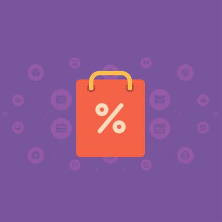 woman credit card: Vector illustration Online payment Illustration