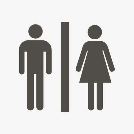 pictogramm: Man and lady toilet pictogramm