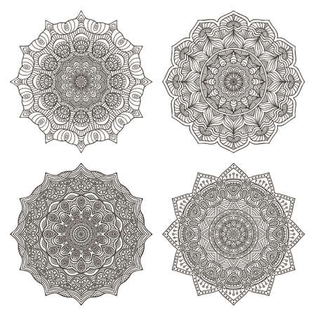 mandalas: Vector illustration set of mandalas Illustration
