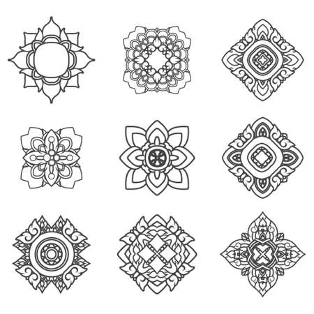 mandalas: Set of mandalas Illustration