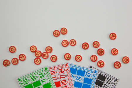Table lotto game for using banners, magazines with text space Stock Photo