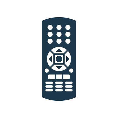 Remote control. Technology communication switch button. Program device. Wireless keyboard. Isolated flat illustration on white background. Universal electronic controller. Vettoriali