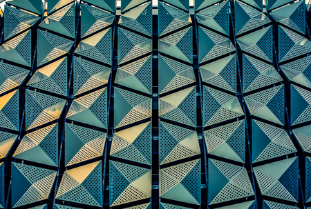 Symmetry and Pattern on the extrior of a building Stock Photo