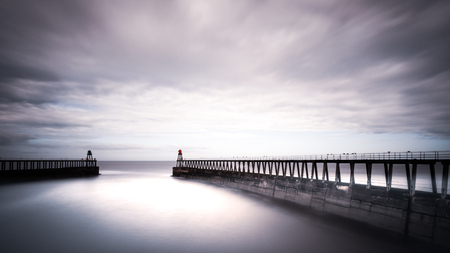 Whitby Piers, North Yorkshire