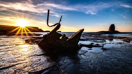 The Shipwreck of the Admiral Von Tromp and Black Nab, Saltwick Bay, Whitby