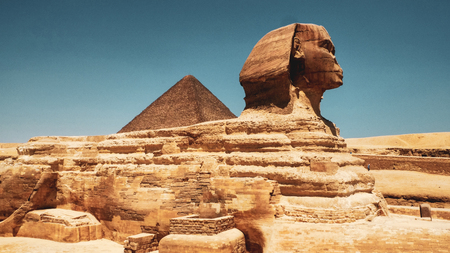 Sphinx at Giza, Cairo Stock Photo