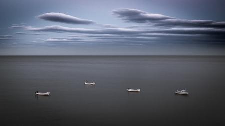 Fishing Boats, Calm Sea