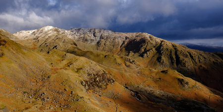 Lake District Mountains from Coniston Old Man in the English Lake District Stock Photo