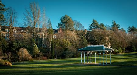 Ornate shelter in the Valley Gardens, Harrogate