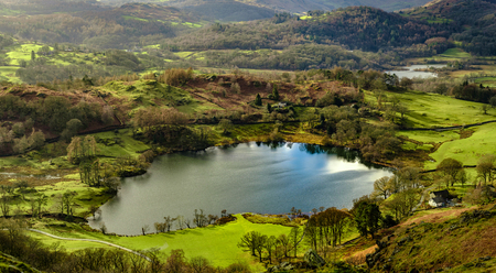 Loughrigg Tarn from Loughrigg Fell, English Lake District