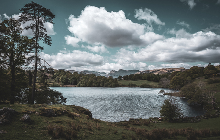 The Langdale Pikes and Loughrigg Tarn, English Lake District