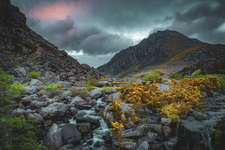 Tryfan Mountain and Afon Ogwen, Snowdonia, North Wales