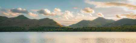 Derwentwater in the English Lake District Imagens