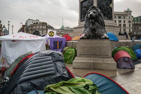 Extinction Rebellion Camp in Trafalgar Square