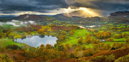The view from Loughrigg Fell near Ambleside