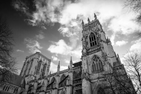Looking up at York Minster, York, UK