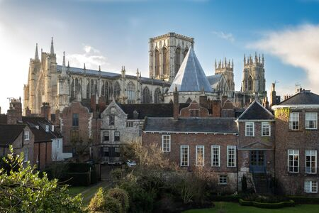 York Minster and York Buildings, York, UK 스톡 콘텐츠