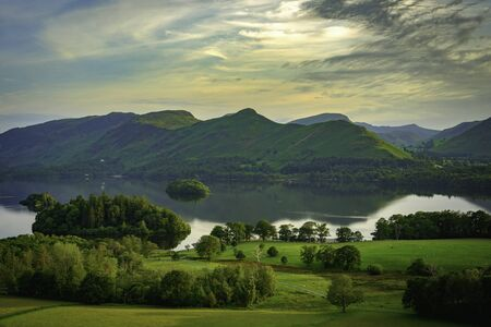 Catbells and Derwentwater from Castlehead, Lake District Imagens