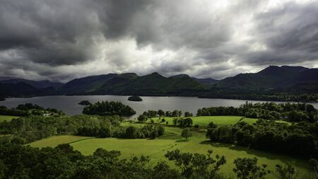 Derwentwater, Catbells and Borrowdale from Castlehead