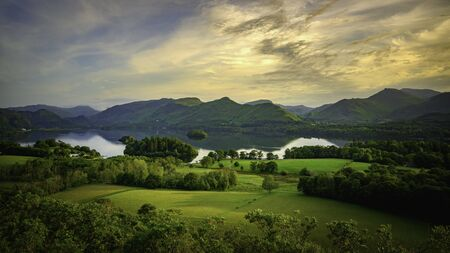 Derwentwater and Catbells from Castlehead, Lake District