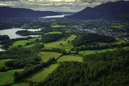 Keswick and Derwentwater from Walla Crag, Lake District