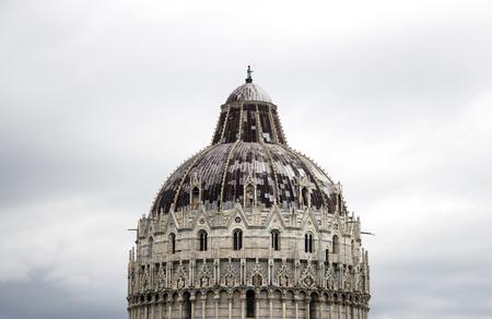 The majestic Dome Of Campo Dei Miracoli in Pisa, Italy. Stock Photo
