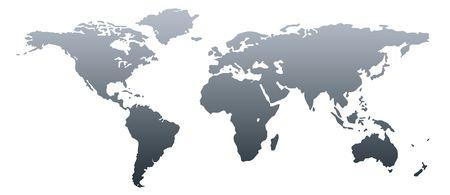 norte: Mundo gris oscuro de mapa