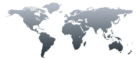 World map dark grey