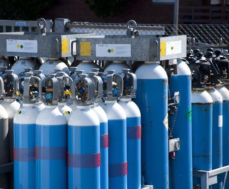 gas tank: Gas bottles Stock Photo